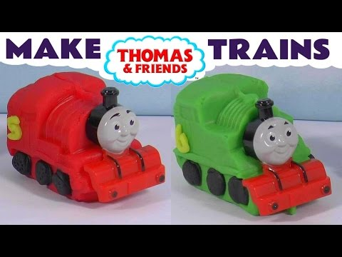 Thomas & Friends make Toy Trains with Dough - Like Play-Doh - James & Percy Fun toys for kids TT4U