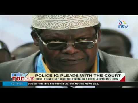 Boinett, Kinoti say contempt finding by high court jeopardises jobs