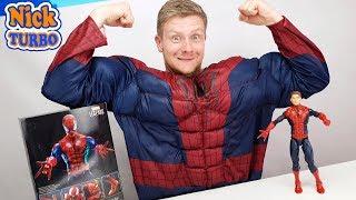 Человек Паук из коробки Marvel Legends | Смешное видео с игрушкой Spider-man