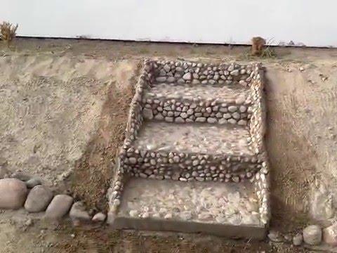 Schody Z Kamienia Na Dzialce Youtube