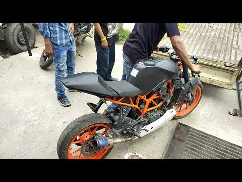 Modified KTM RC 390 ''Death'' || Akrapovic Exhaust