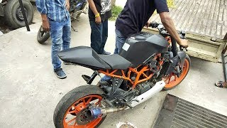 Modified KTM RC 390 ''Death'' || Akrapovic Exhaust