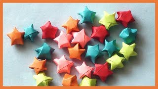DIY PAPER STARS ORIGAMI | HOW TO MAKE PAPER STARS TUTORIAL