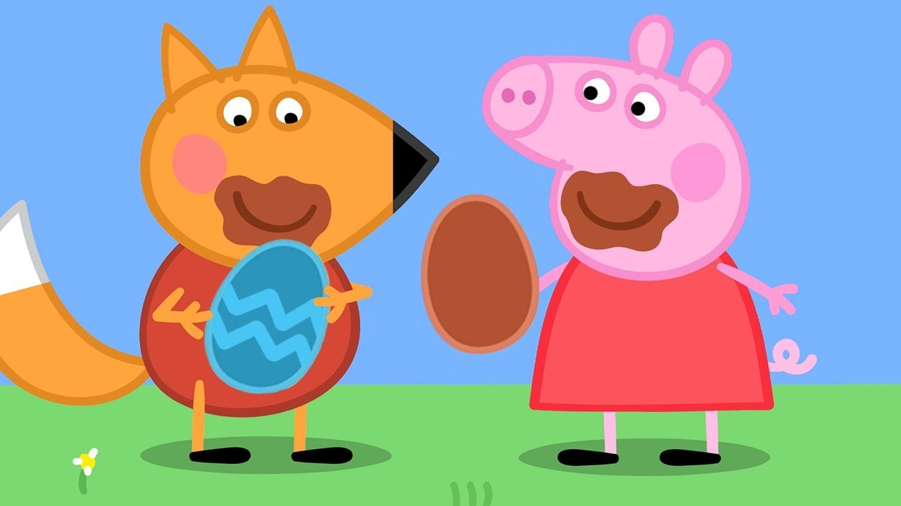Peppa Pig Official Channel Peppa Pig S Chocolate Egg Hunt Youtube