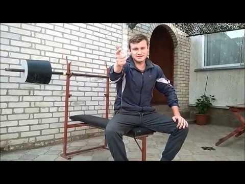 Как сделать штангу для жима лежа своими руками. ПРОЩЕ НЕКУДА!!!!