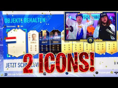 2 ICONS in 2 MINUTEN im PACK !! TOTY PACK OPENING ESKALIERT !! FIFA 19