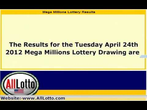 Mega Millions Lottery Drawing Results for April 24, 2012 ...