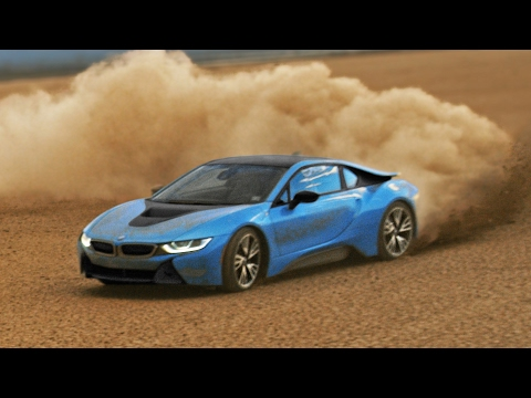 BMW i8 Desert Drifting - Racing Driver António Félix da Costa