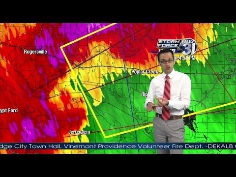 WAAY-TV Limestone Co Athens Alabama Tornado Coverage 4/28/14 4-5pm (Part 1)