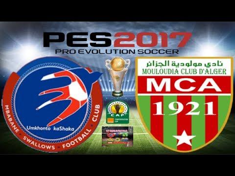 PS4 PES 2017 Gameplay Mbabane Swallows vs MC Alger HD