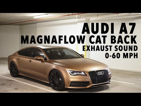 AUDI A7 MagnaFlow Cat Back Exhaust! 0-60MPH and Exhaust Clips