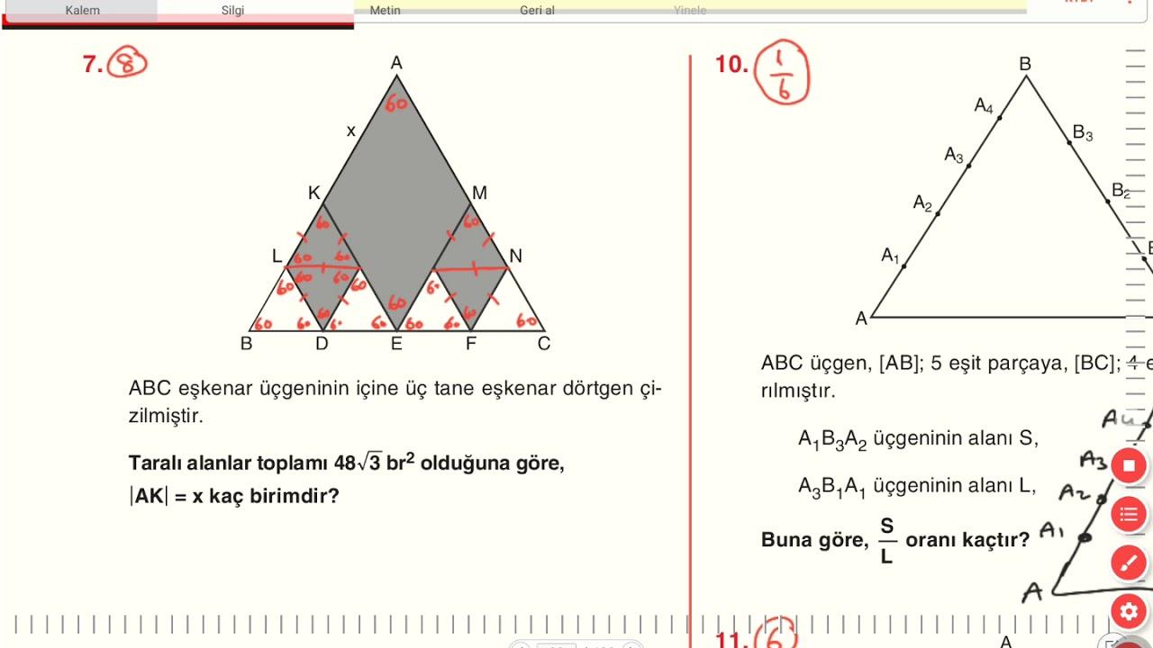Ucgende Alan A2 Testi On Calisma Sorulari 2 Sayfa 88 89 90