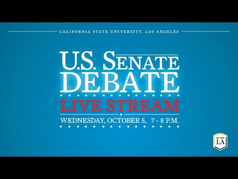 U.S. Senate Debate at Cal State LA