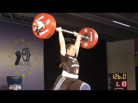 Sarah Fischer - U20 female - 2018 EU Weightlifting Cup - Innsbruck / AUT