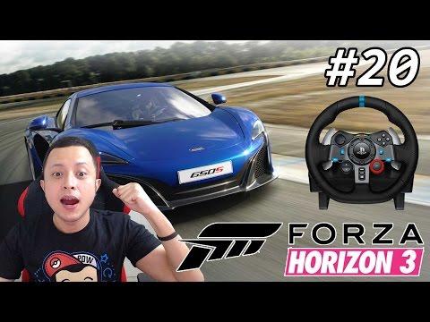Test Drive McLaren 650s Pakai Logitech G29 - Forza Horizon 3 Indonesia #20
