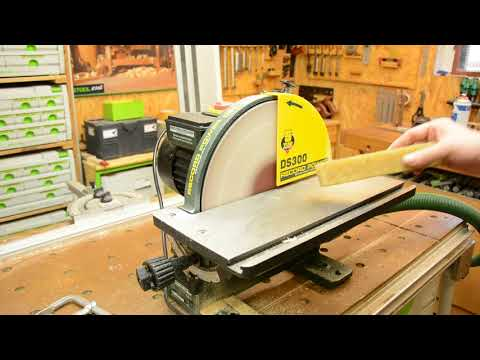 Record Power DS300 Tellerschleifer: Reinigen der Schleifscheibe