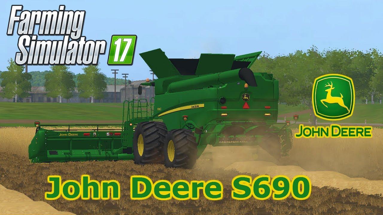 Farming Simulator 2017 / JOHN DEERE S690 COMBINE / Mod ...