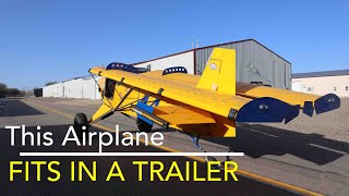 How to put your Highlander airplane in a trailer. We are loaded and ready for Sun N Fun, Florida
