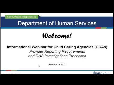 Informational Webinar for Child Caring Agencies