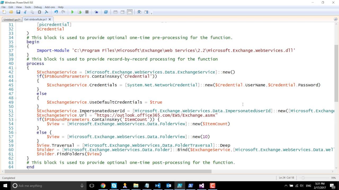 Retrieve Exchange Online Folder Information Using EWS Managed API 2 2 and  PowerShell