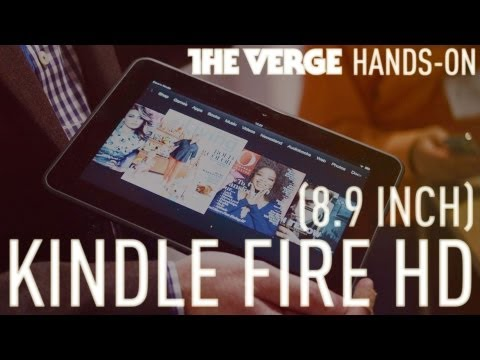 """Amazon Kindle Fire HD 8.9"""" first look"""