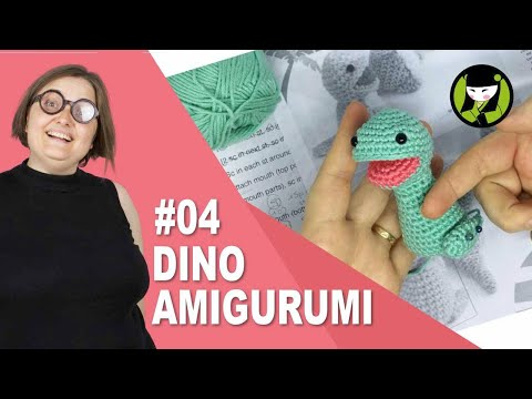 DINOSAURIO AMIGURUMI 04 pie tejido a crochet