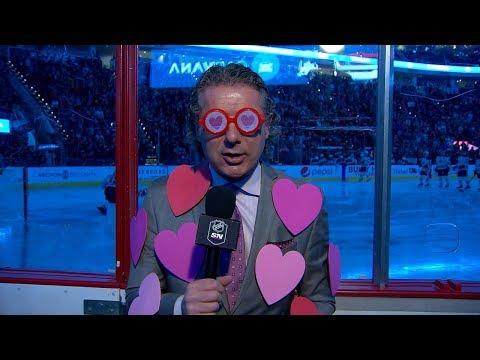 Gene Principe gets into the Valentine's Day spirit for pregame report