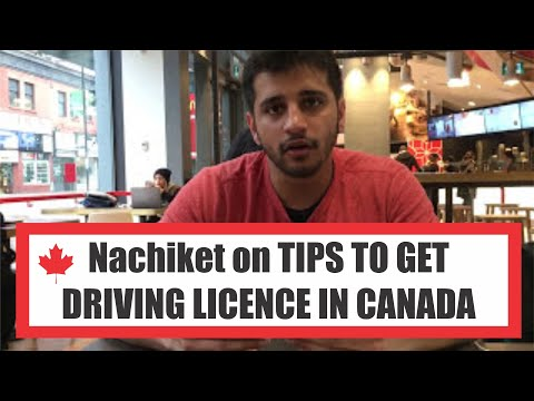 Nachiket sharing his  driving licence  experience in Toronto with You all!!
