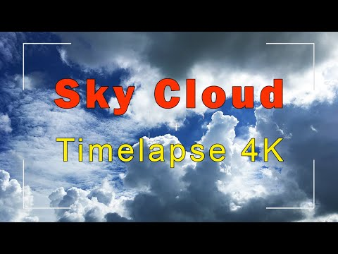 Cloud Timelapse 4K | Fast Moving Sky Cloud Hyperlapse in Autumn