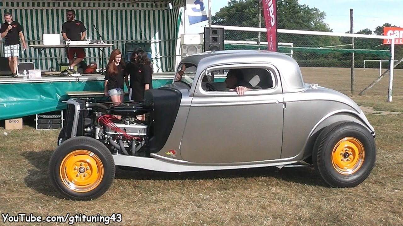 Ford 34 Coupe Hot Rod - Details and Sound - YouTube