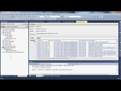 Deploy a .NET Application to AWS Elastic Beanstalk using Visual Studio on Amazon RDS