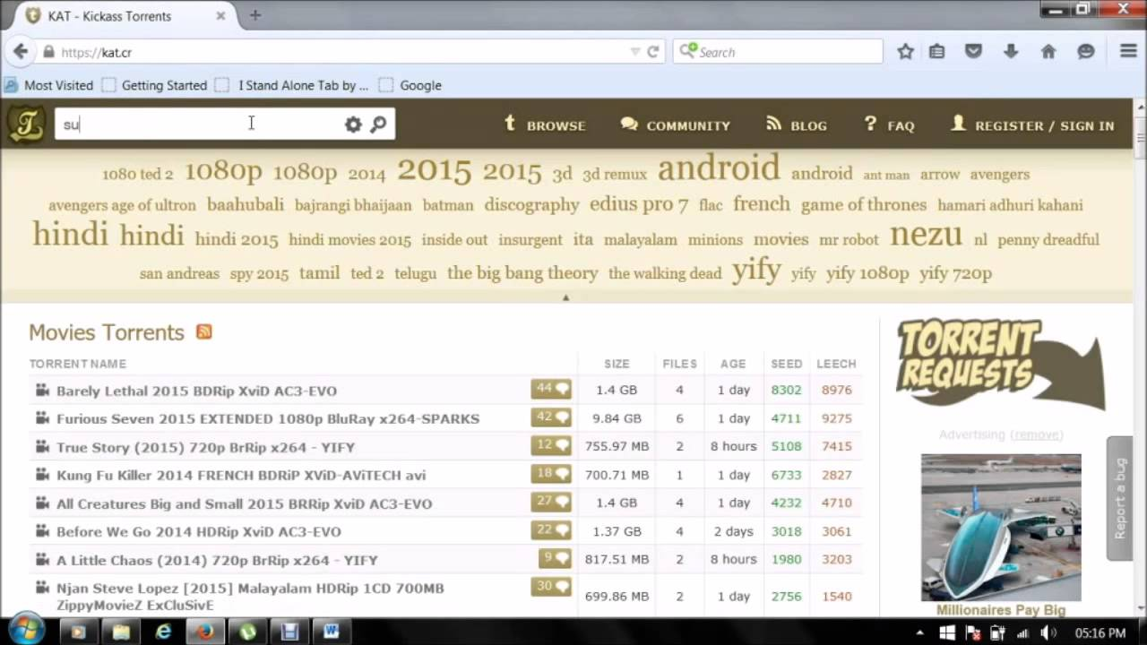 how to download using kickass torrents