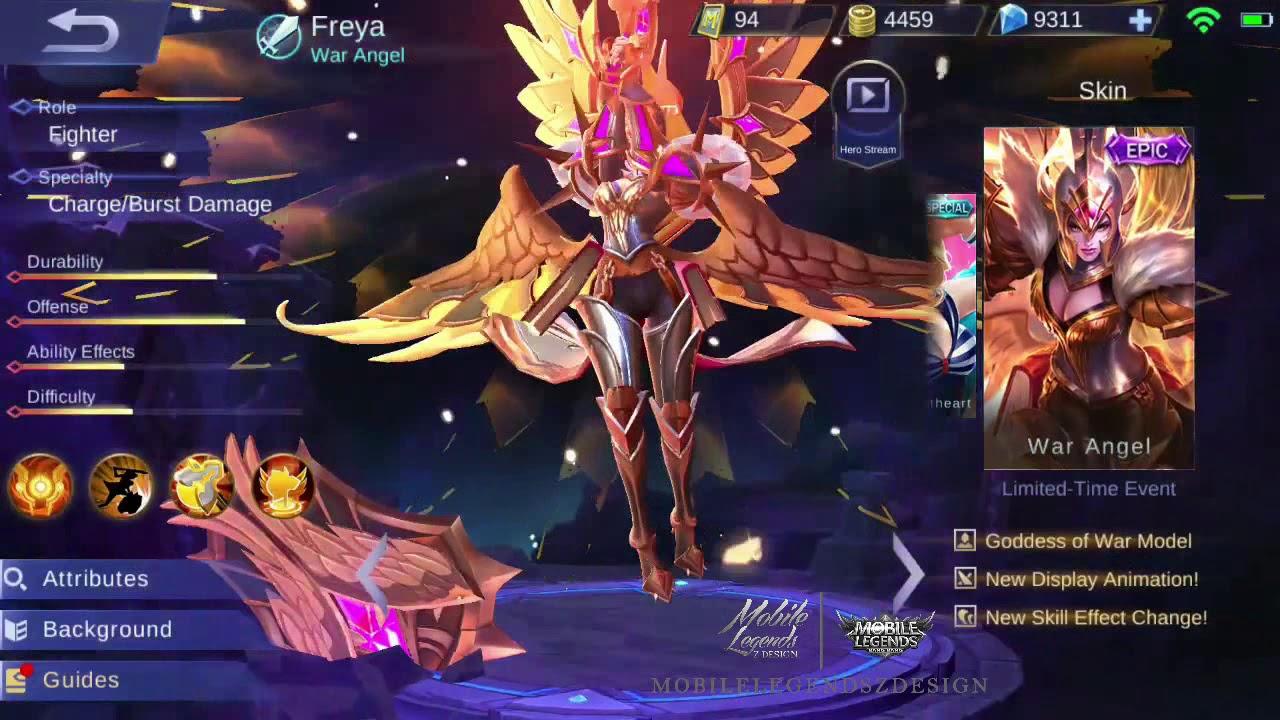 Skin Freya Epic Mobile Legends Bang