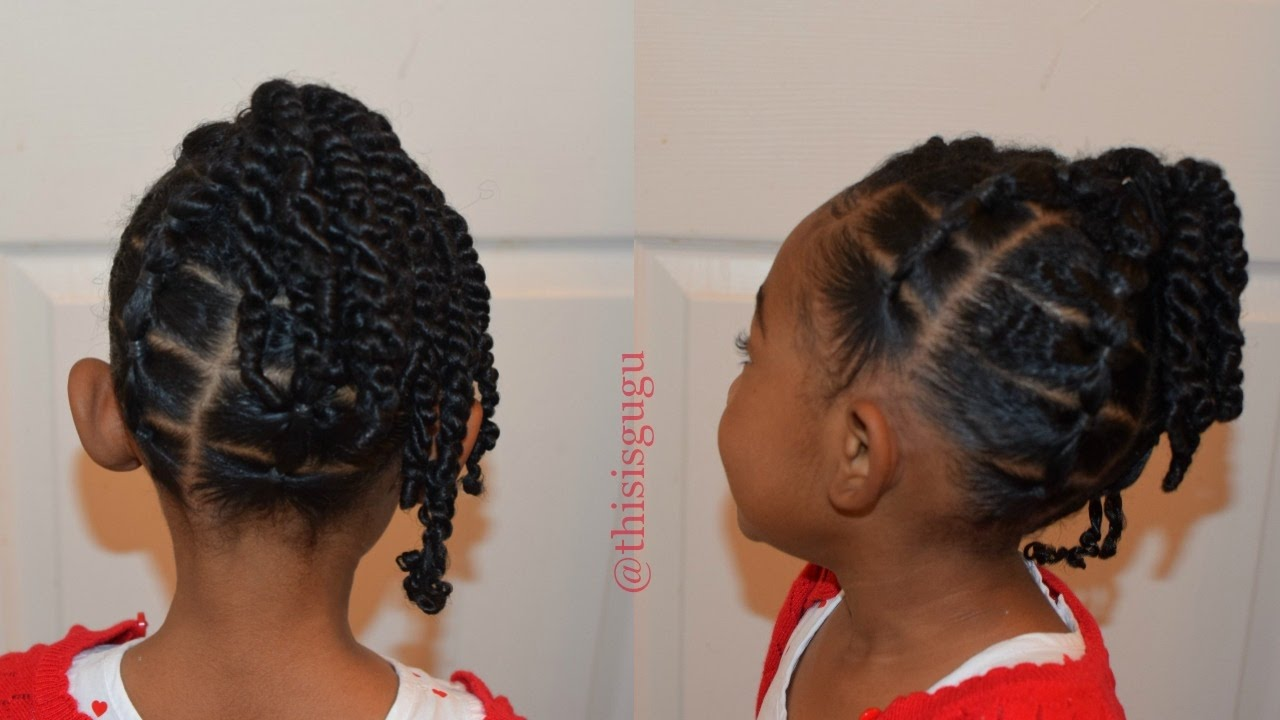 Kids Natural Hairstyles Easy Toddler Little Girls Hair Style The