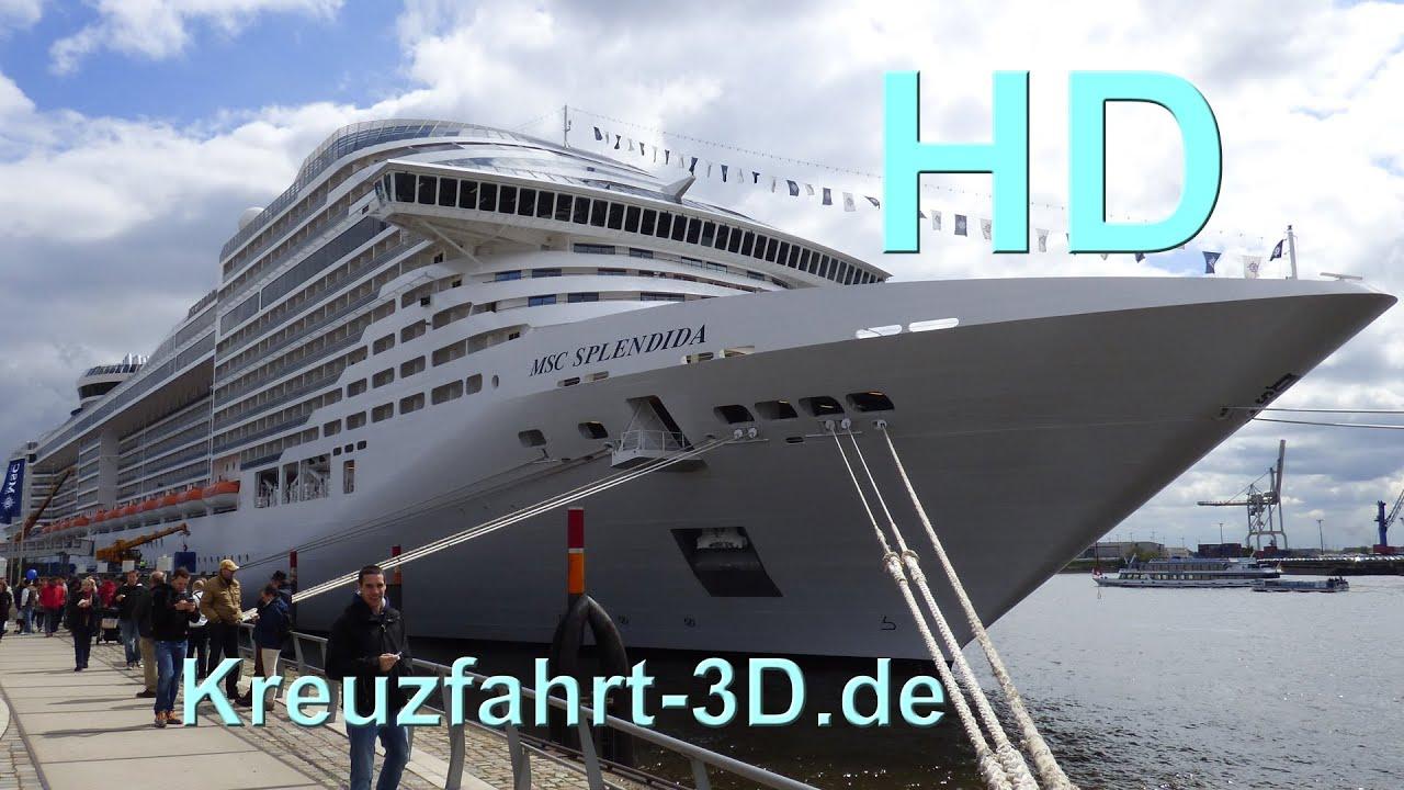 MSC Splendida in Hamburg - Auslaufen mit ...