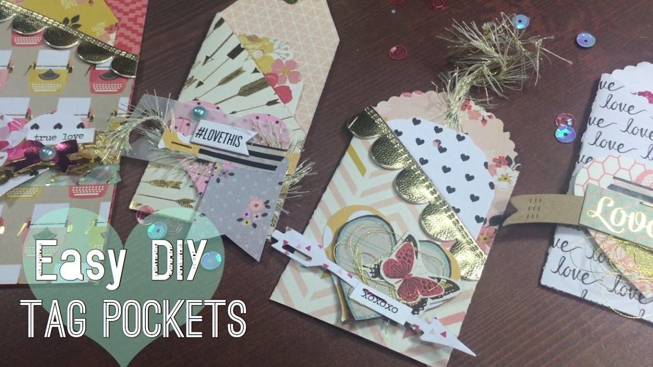 ♥ EASY DIY POCKET TAGS // Valentines Ideas I m A Cool Mom YouTube