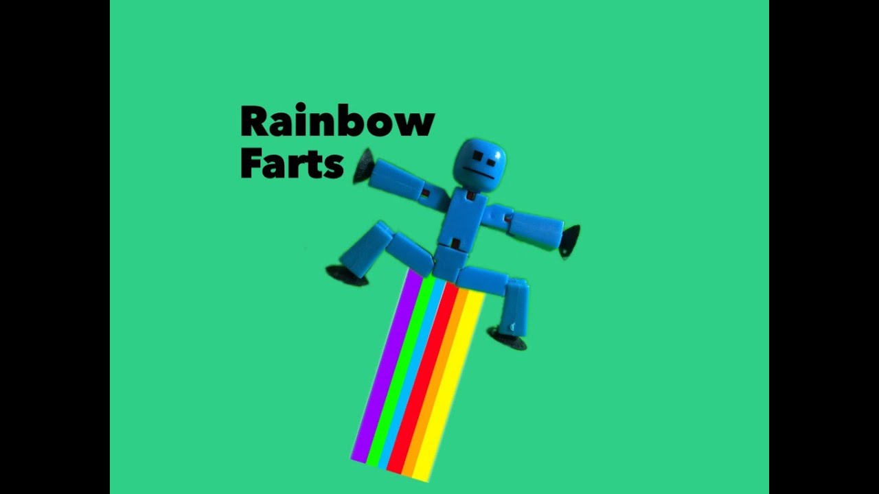 Rainbow Farts!?!? (Stikbot Stop Motion Animation) - YouTube