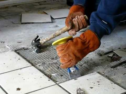 HOW TO REMOVE TILE THE EASY WAY Be Your Own Handyman Home YouTube - Best chisel for removing tile