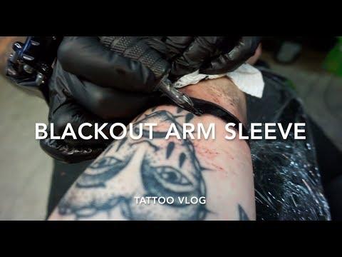 Getting A Black Arm Tattoo   Blackout Sleeve   Tattoo Vlog