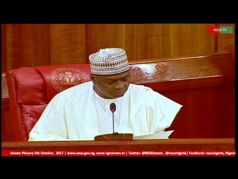 Senate Plenary,5th October, 2017
