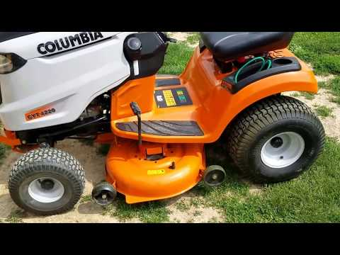 Columbia CYT 4220 lawn tractor review