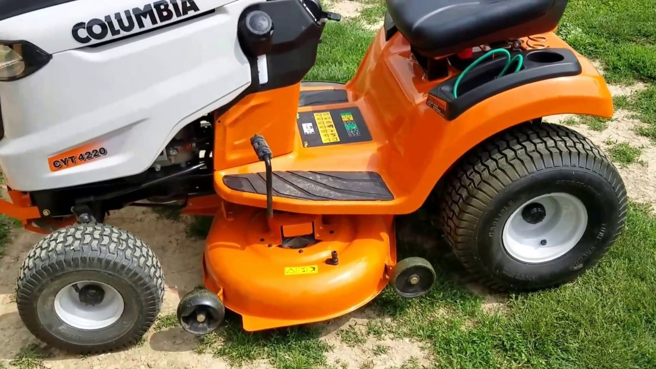 Columbia Cyt Lawn Tractor Review