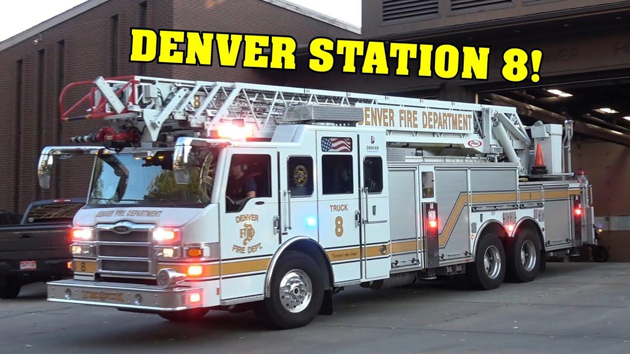 *NEW APPARATUS* [DENVER FIRE] - Engine 8 & Truck 8 responding!