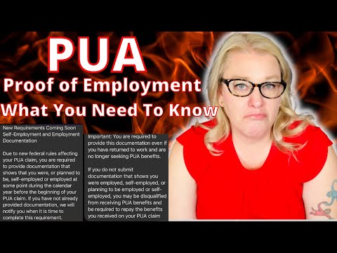 CA EDD PUA Unemployment Update Proof of Employment Or Self-Employment Required