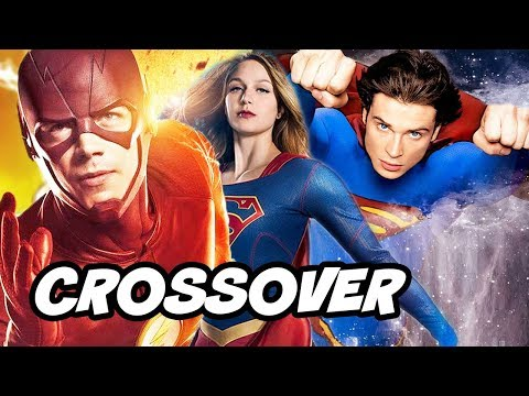 The Flash Arrow Supergirl DCTV Smallville Crossover Scene Explained