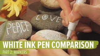 White Ink Pen Comparison - Part 2: Markers