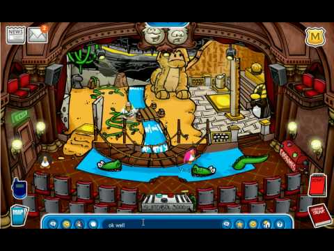 Club Penguin Stage Catolog Secrets 2008-2009 Quest For the Golden Puffle