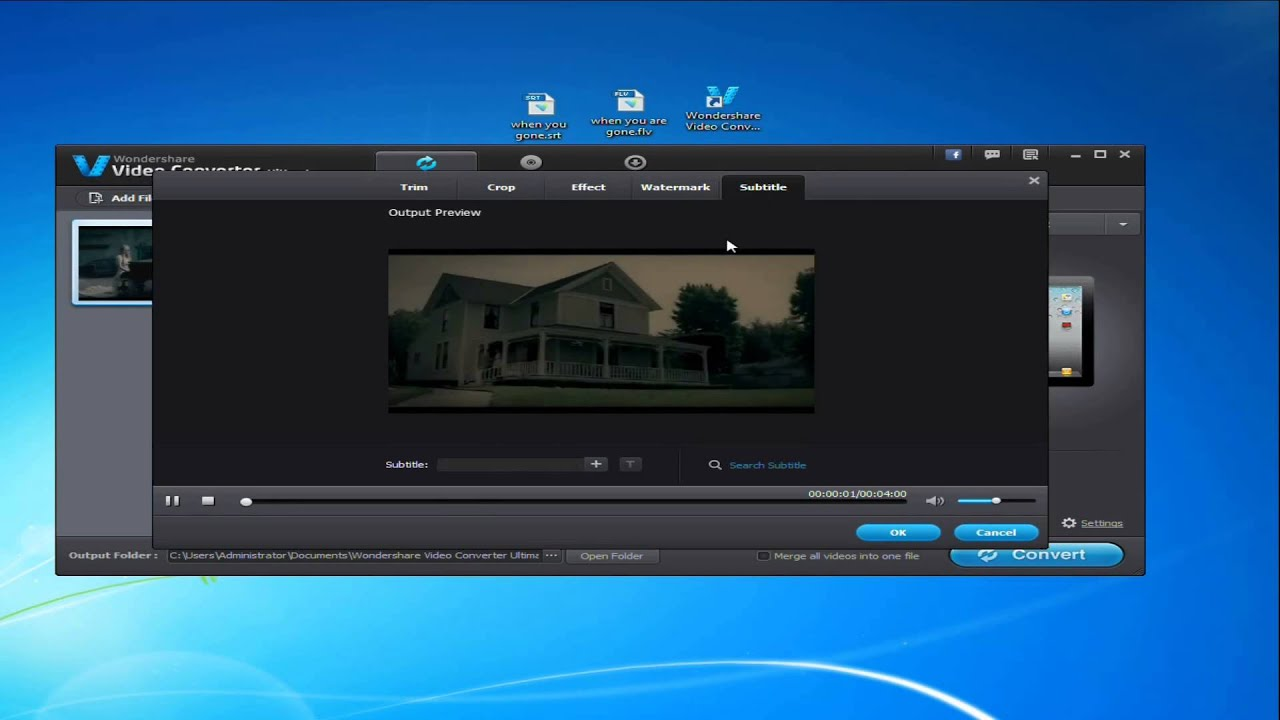 how to add subtitles to mp4 windows 7