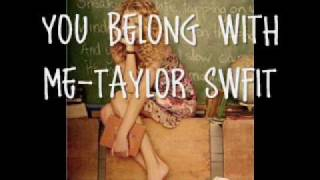 YOU BELONG WITH ME TAYLOR SWIFT +DOWNLOAD