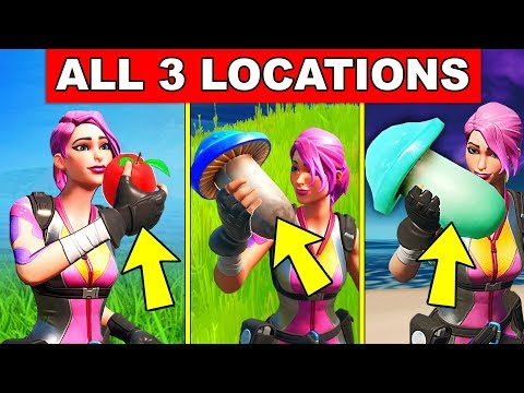 Consume An Apple, A Mushroom, And A Slurpshroom – ALL 3 LOCATIONS Fortnite Cameo Vs Chic Challenges